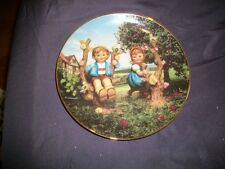"MJ Hummel Plate ""Apple Tree Boy & Girl"" Little Companions, Danbury Mint - 1989"