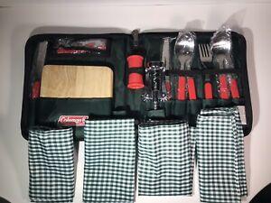 Coleman Cheese And Wine Set With Silverware Napkins Corkscrew for picnic