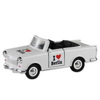 Trabi Trabant Cabrio I love Berlin weiß,Modellauto DDR Metall 12 cm,NEU