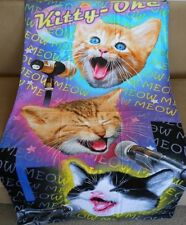 New Kitty Oke Singing Cats Kitten Beach Bath Pool Gift Towel Karaoke MEOW Cat