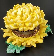 Chrysanthemun Topaz November Birth Month Trinket Jewelry Box