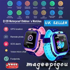 Smart Phone Watch Kids Tracker LBS SIM Alarm Camera SOS Call for Boys and Girls
