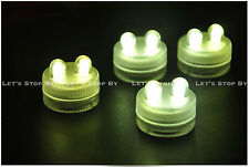 30 Warm White SUPER Bright Dual LED Tea Light Submersible Floralyte Wedding