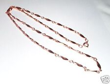 "100% Copper Curved  Link Chain Necklace 24"" NWT"