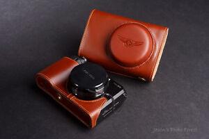 Handmade Genuine real Leather full Camera Case Camera bag cover for Samsung EX2F