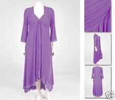 NEW!  Zaftique DUAL LAYER DRESS Purple LAVENDER (Only One!) 3Z / 24 / 3X