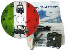 DIY CD Clock KIT of a Piaggio Calessino on the Italian Flag Wall or Desk Clock