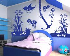 00129 Wall Stickers Adesivi Camerette bambini abissi nanna mare