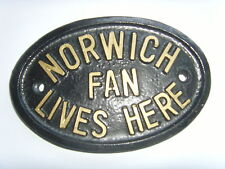 NORWICH FAN FOOTBALL PLAQUE CANARIES HOUSE SIGN