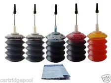 5x30ml Refill ink kit for HP 21 22 OfficeJet J3608 J3625 D1460 D1468 PSC 1410xi
