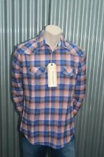 191 Unlimited Blue & Pink Plaid Button-Up Woven NWT L
