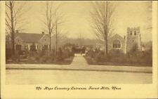 Forest Hills Ma Mt. Hope Cemetery Entrance c1900 Postcard