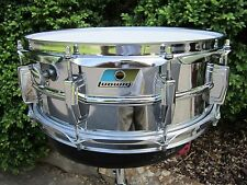 LUDWIG CLASSIC 5 X 14 SUPRA PHONIC SNARE DRUM BLUE & OLIVE BADGE VINTAGE 1970'S