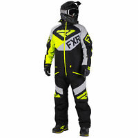 FXR Mens Black/Lt Grey/Hi-Vis Fuel FX Monosuit Snowmobile 2020
