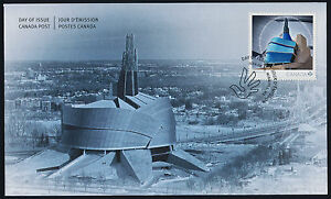 Canada 2771 on FDC - Museum for Human Rights, Architecture