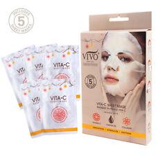 Vivo Per Lei Vitamin C Sheet Mask | Contains Collagen, Vitamin C, Set of 10