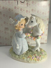 Precious Moments-Limited Edition-Peace In The Valley-Girl/Horse/Reign/F lowers