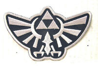"Legend of Zelda Hyrule's Royal Crest Grey Logo 3"" Embroidered Patch (ZEPA-002SM)"