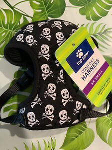 Top Paw Dog Puppy Harness XXS Skulls Crossbones NWT