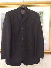 RIVER ISLAND Dark Gray SUIT JACKET 44R Pure New WOOL Single Breasted