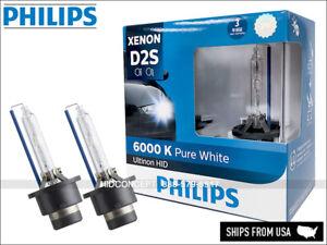 D2S PHILIPS 6000K Ultinon HID XENON Headlight Bulbs 85122WX 35W Made In Germany
