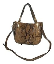 Michael Kors Handbag Brooke Medium Embossed Python Leather Shoulder Tote, Purse