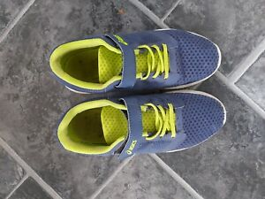 boys blue and green asics trainers size 3