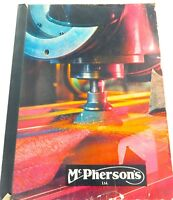 SCARCE 1966 McPHERSONS TOOL, ENGINEER, PUMP, MACHINE SUPPLIERS CATALOGUE.