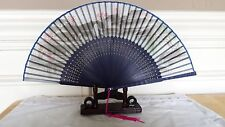 High Quality Scenery 9 inches Silk and bamboo Hand Fan US Seller