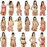 Padded Bandeau/Halter Neck Bikini Top and Briefs/Bottoms Set Size 6,8,10,12,14