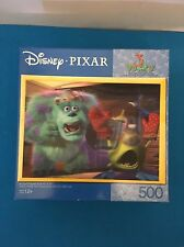 Disney Pixar Monsters Inc 3-D Visions Lenticular Puzzle 500 Pieces Sulley Mike