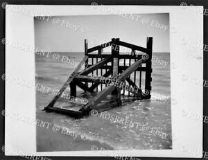 1944 an element C Anti Tank obstacle towed from the Sea - W.O. photo 12 by 9cm