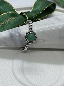 Pandora may CHRYSOPRASE  ring size 52 #190854CH RETIRED Authentic Ale 925