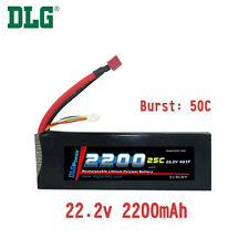 Genuine DLG RC Battery 22.2V 6S 25C 2200mAh Burst 50C Li-Po LiPo Dean's T plug