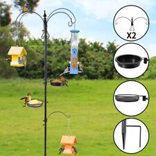 "Bird Feeding Station 84.6"" Multi-Feeder Station Hanging Kit w/Bird Bath Black"