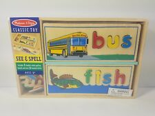 Melissa & Doug Wood Letter See & Spell Learning Classic Educational Toy - NEW  W