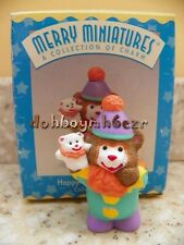 Hallmark 1997 Merry Miniatures Happy Birthday Clowns