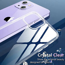 Clear Case For iPhone 13 12 11 Pro Max XS XR 8 7 SE 2 Transparent Slim TPU Cover