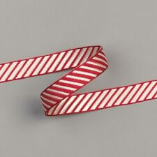 """Stampin' Up! Cherry Cobbler 3/8"""" Diagonal Striped Ribbon (Retired) - NEW"""