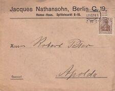 BERLIN, Briefumschlag 1913, Jacques Nathansohn Hansa-Haus