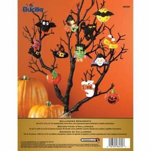 Bucilla Felt Ornaments Applique Kit Set Of 12 Halloween 86430