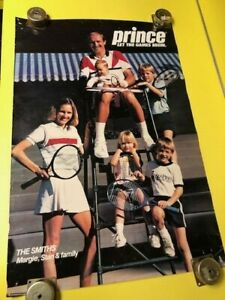 STAN AND MARGIE SMITH FAMILY PRINCE VINTAGE ORIGINAL TENNIS POSTER