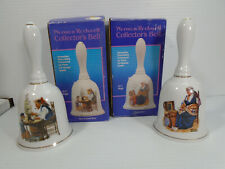 Lot of 2 Norman Rockwell Collector's Porcelain Bells Memories & For A Good Boy