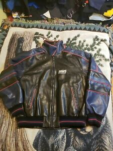 Vintage G-iii By New York Giants Leather Varsity Style Jacket Mens XL
