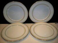 4 NORITAKE CHINA JAPAN #2160 ''EUGENIA'' DINNER PLATES 10 1/4''