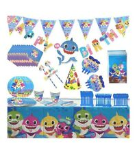 Baby Shark Party Supplies Set-145 pcs Baby Birthday Parties Decorations Ocean
