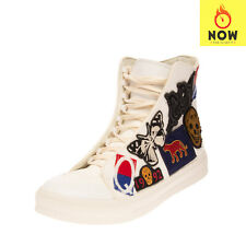 RRP€815 ALEXANDER MCQUEEN Canvas Sneakers EU 40.5 UK 6.5 US 7.5 High Top Patched