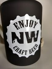 NW Craft Beer - STAINLESS INSULATED GROWLER 64 oz - Black Wine Bar Brewery Gift