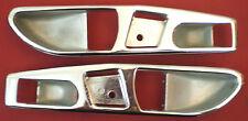 73-89 MERCEDES W107 R107 SL450 SL380 SL560~LEFT & RIGHT CHROME DOOR HANDLE CUPS