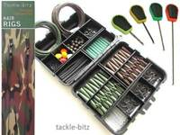 Carp Fishing Terminal End Tackle Box Lead Clips Hair Rigs Baiting Needles Set